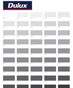 50 Shades Of Grey For Men Dulux Paint Swatch