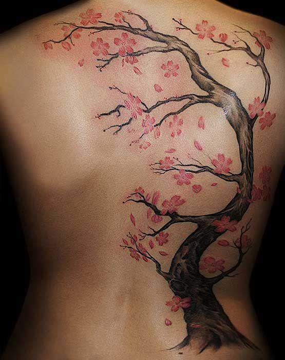 Cherry Blossom Back Tattoos : cherry, blossom, tattoos, Ultra-prettty, Tattoos, Pretty, Designs, Blossom, Tattoo,, Cherry