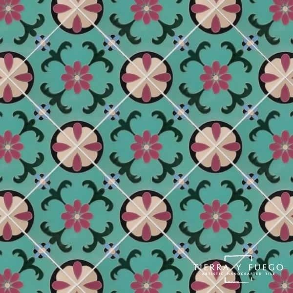 12x12 Malibu Santa Barbara Hand Painted Floor Tile ($45) ❤ liked on Polyvore