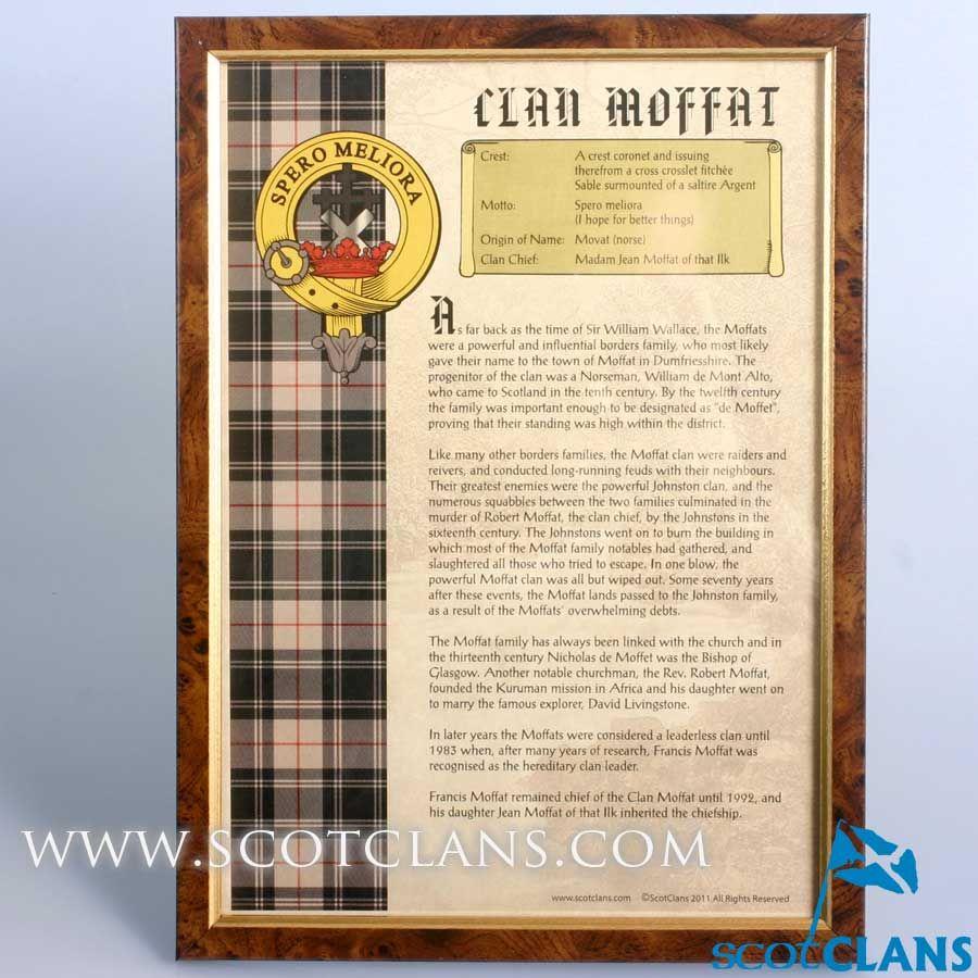 moffat clan history print clan moffat products moffat clan history print
