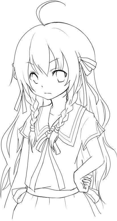 Anime Emo Wolf Girl Coloring Pages