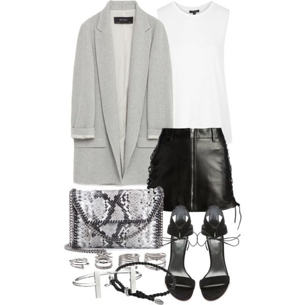 Untitled #19670 by florencia95 on Polyvore featuring moda, Topshop, Zara, Yves Saint Laurent, Stuart Weitzman, STELLA McCARTNEY, Forever 21, David Yurman and French Connection