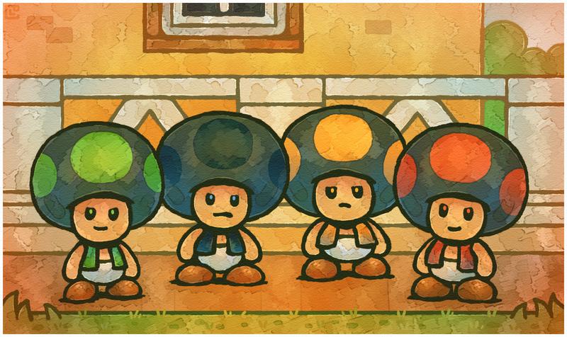 Paper Mario 64 Suspicious Toads By Cavea On Deviantart Paper Mario 64 Paper Mario Mario
