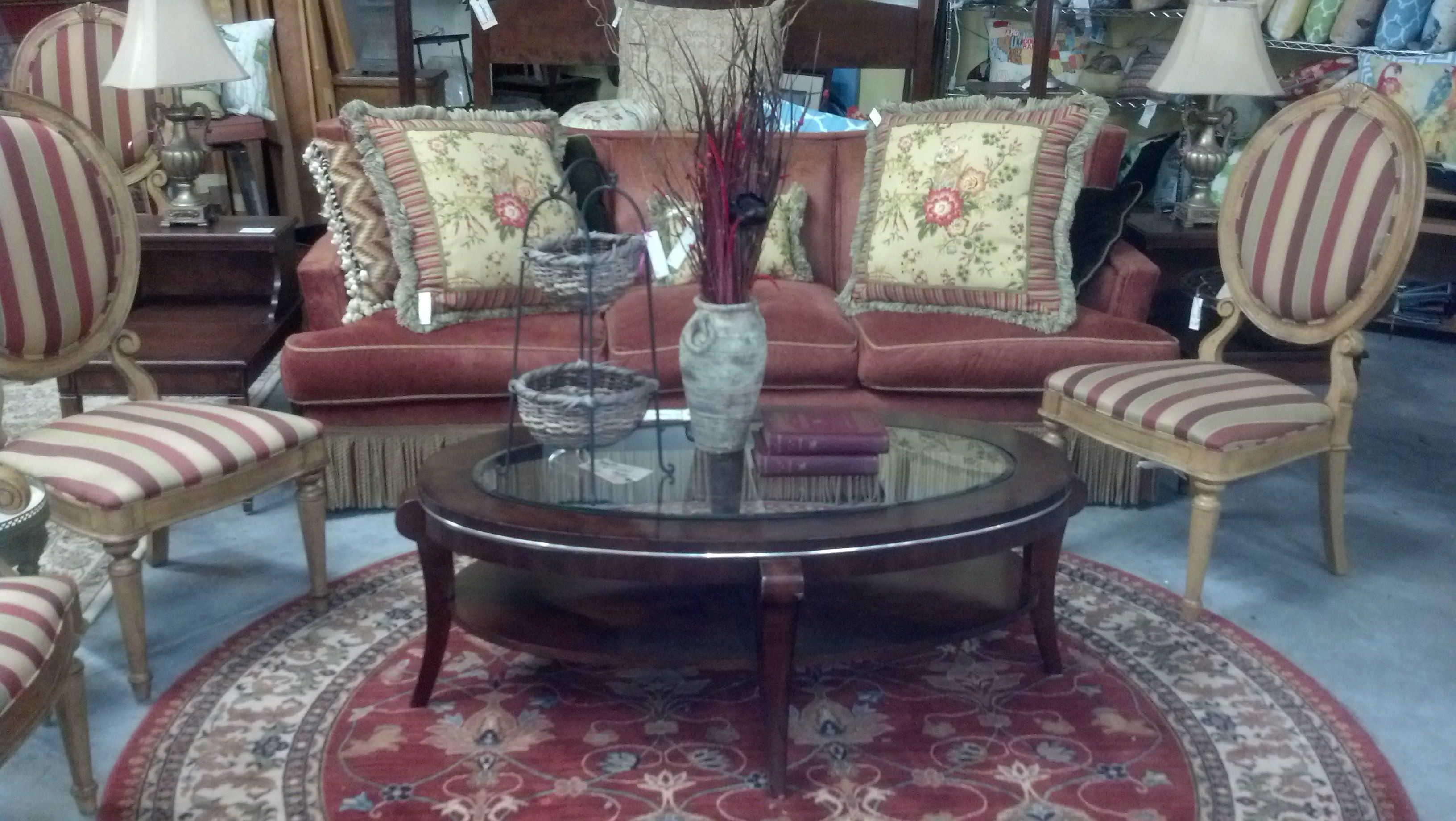 Put to her a whole new look with rugs sofa tables and chairs