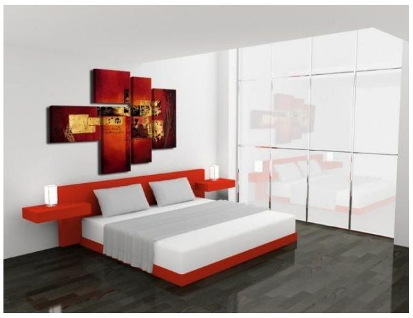 Cuadros para dormitorios modernos hermosos s1 - Decoracion pintura dormitorios ...