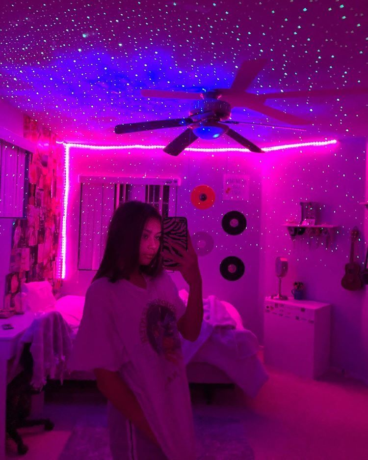 Led Strip Lights With Remote Cosmic Drip In 2020 Neon Room Neon Bedroom Aesthetic Bedroom