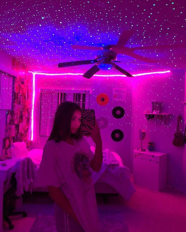 Teenage Room Tik Tok Teenage Room Bedroom Aesthetic Bedroom Led Strip Lights Trendecors