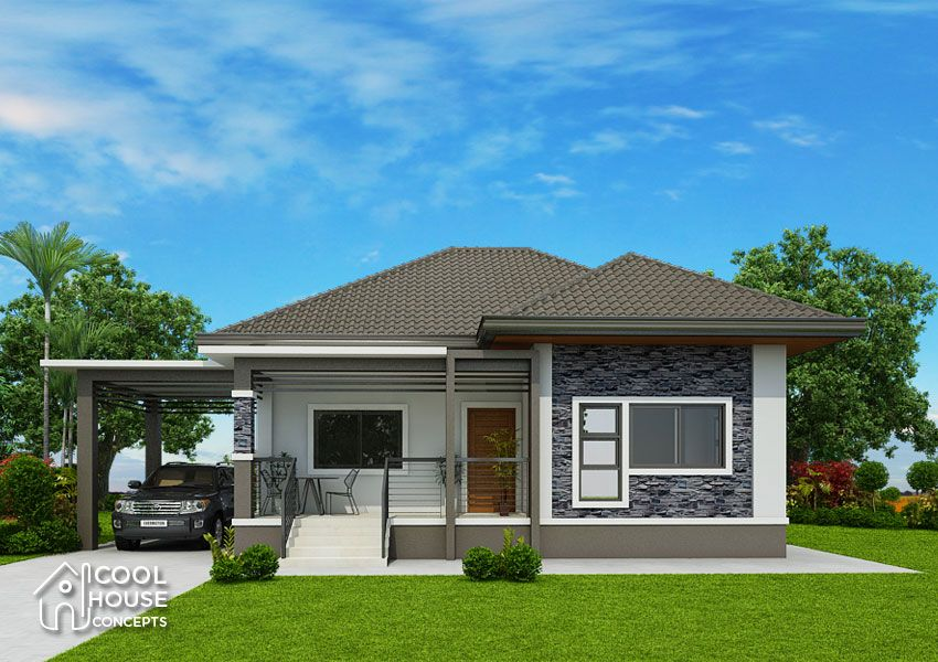 Plans This Elevated 3 Bedroom House Design Has 2 Toilet And Bath Having A Floor Area Of 162 Sq M It Can B Home Design Plan House Design Bungalow House Design