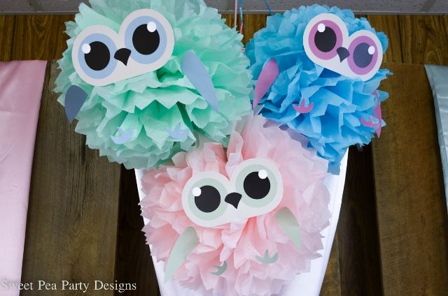 Owl meet the baby baby shower tissue paper poms paper poms owl meet the baby baby shower negle Choice Image