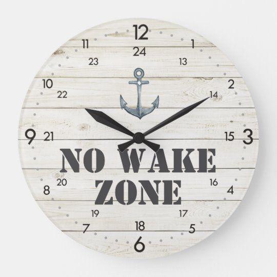"""Photo of 24-Hour Clock """"No Wake Zone"""" Nautical"""