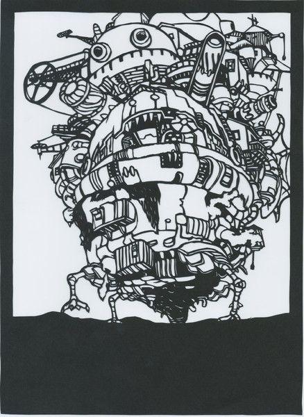 切り絵 ハウルの動く城 枕魚 さんのイラスト 切り絵 ハウルの動く城 ハウル