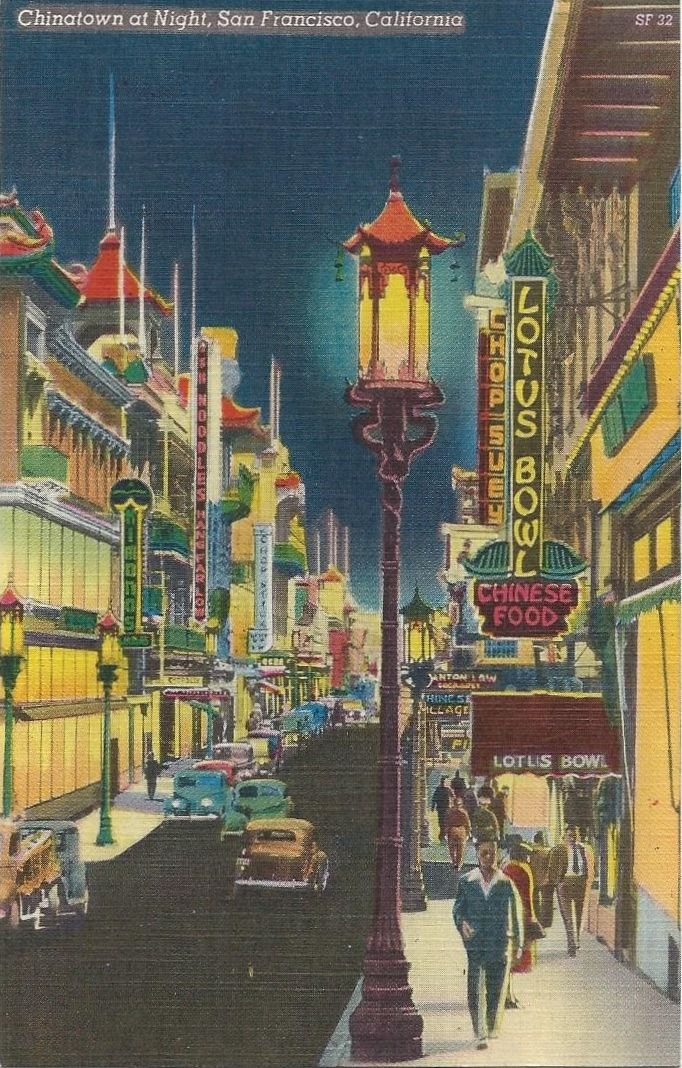 Vintage Graphics chipteretia A 1950s postcard view