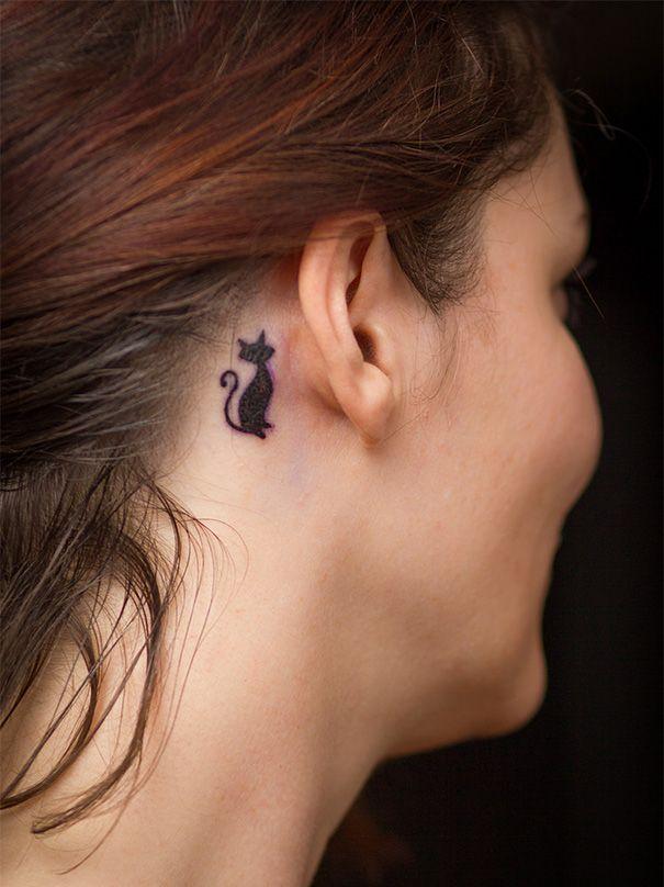 50 tatouages de chats minimalistes tatouages body painting. Black Bedroom Furniture Sets. Home Design Ideas