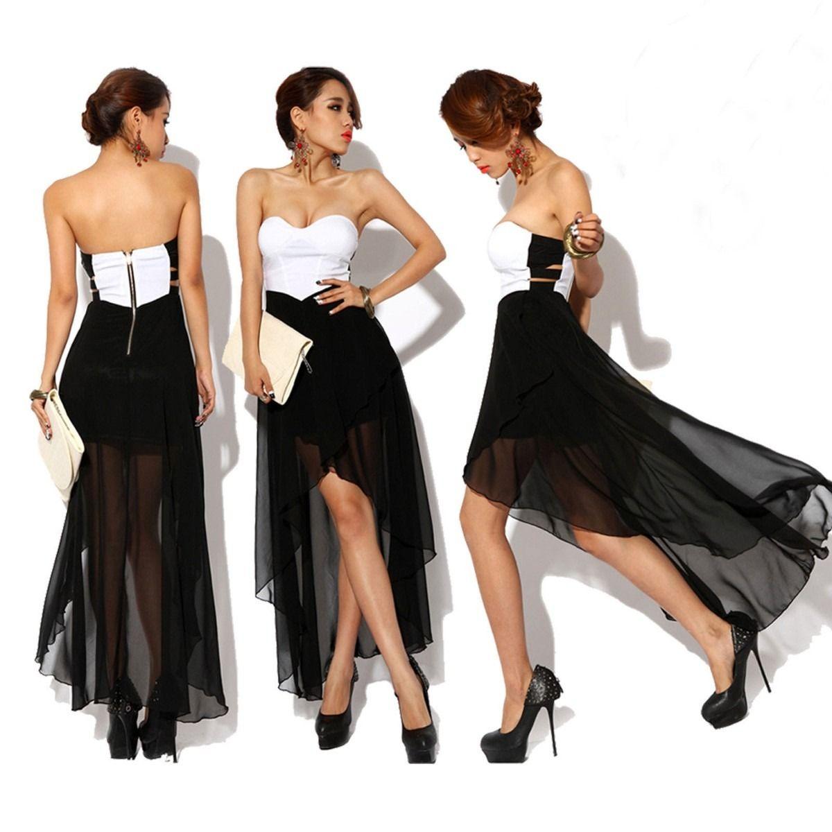 Vestidos de fiestas blanco y negro