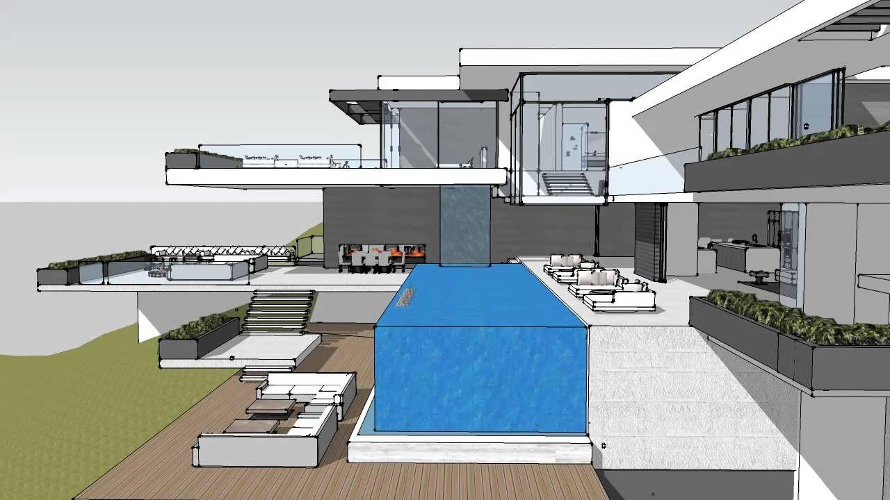 Image Result For Modern Mansion On Sunset Plaza Drive In La Modern Mansion Mansion Plans Morden House