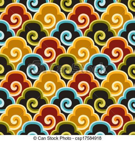 Chinese Fabric Patterns Seamless Chinese Auspicious Clouds Fabric Unique Chinese Fabric Patterns