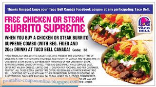 graphic regarding Taco Bell Coupons Printable referred to as Absolutely free Printable Taco Bell Discount codes Brookstone Discount codes Could possibly