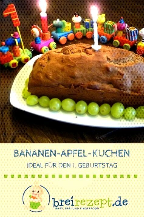 Cake for the first birthday banana recipe without sugar -