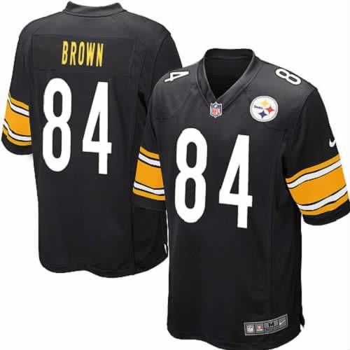 Antonio Brown Pittsburgh Steelers Black Game Jersey
