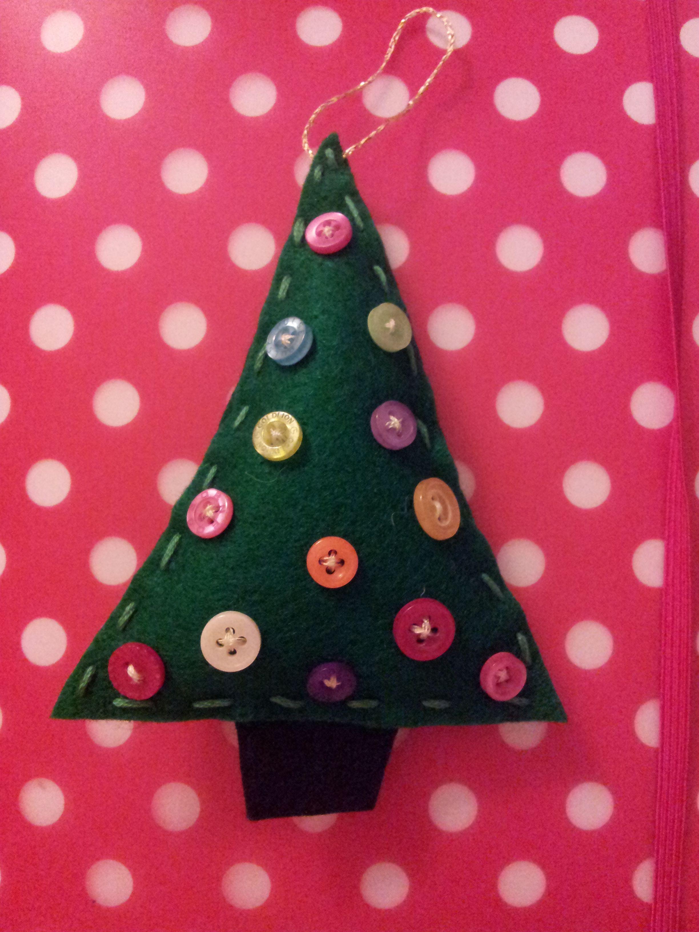 Felt And Button Christmas Tree Decoration 2013