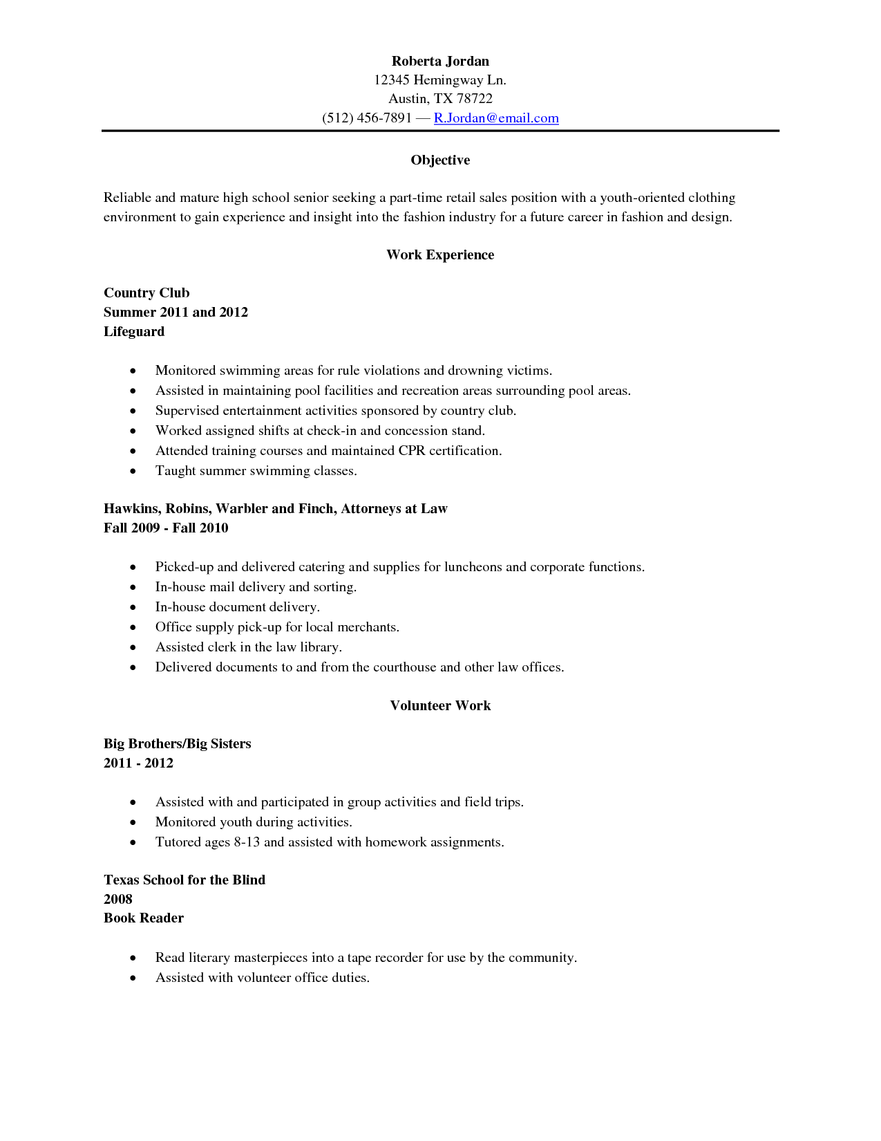 47++ Doing a resume for a high school student Resume Examples
