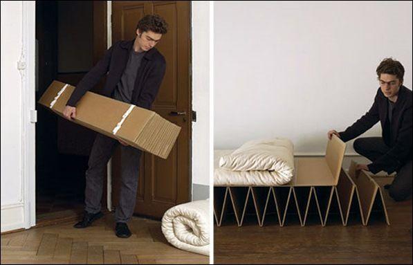 Lit En Carton Itbed Lit Pliable Meubles En Carton Mobilier Design