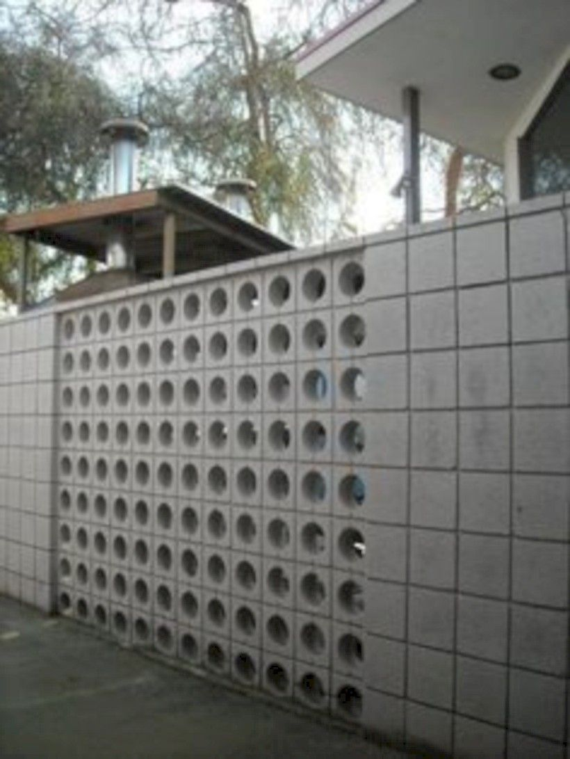 Inspiring Breeze Block Wall Fences Ideas | Block wall ...