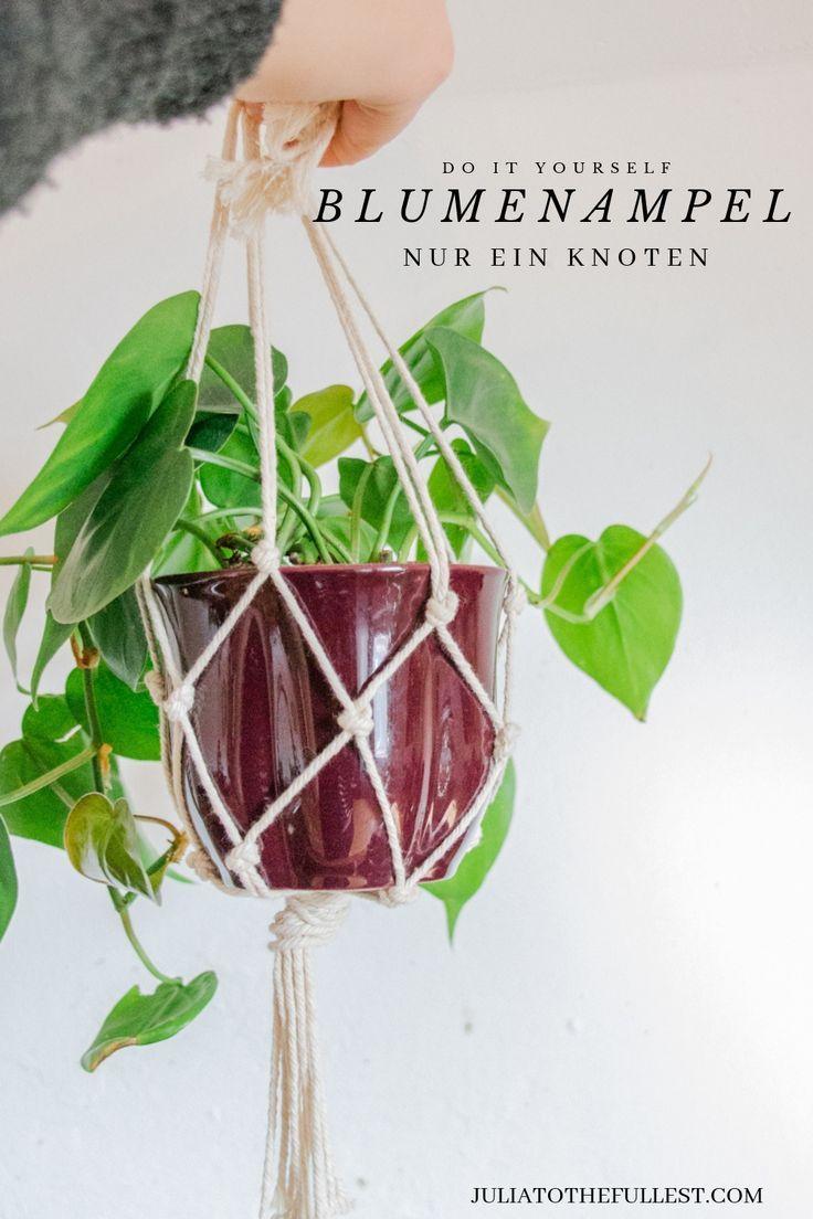 DIY: Makramee Blumenampel - Videoanleitung mit nur einem Knoten #flowerpot