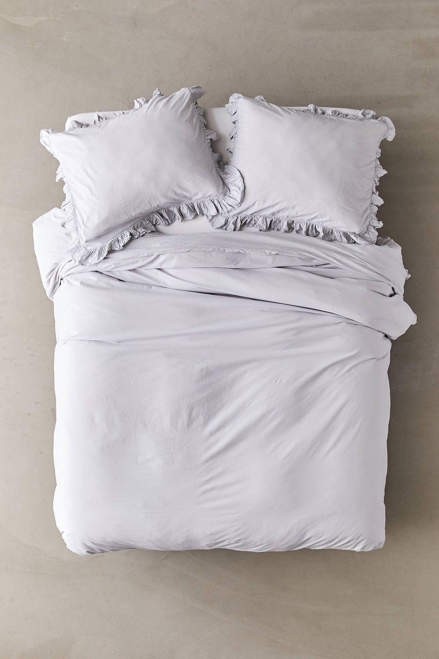 Washed Cotton Overscale Ruffle Duvet Cover Ruffle Duvet Duvet