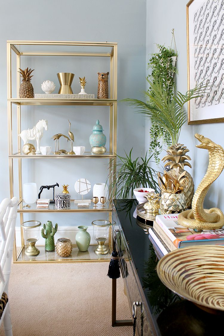 How I Ve Styled The Dining Room For Now Glass Shelves Decor Dining Room Shelves Glass Shelves