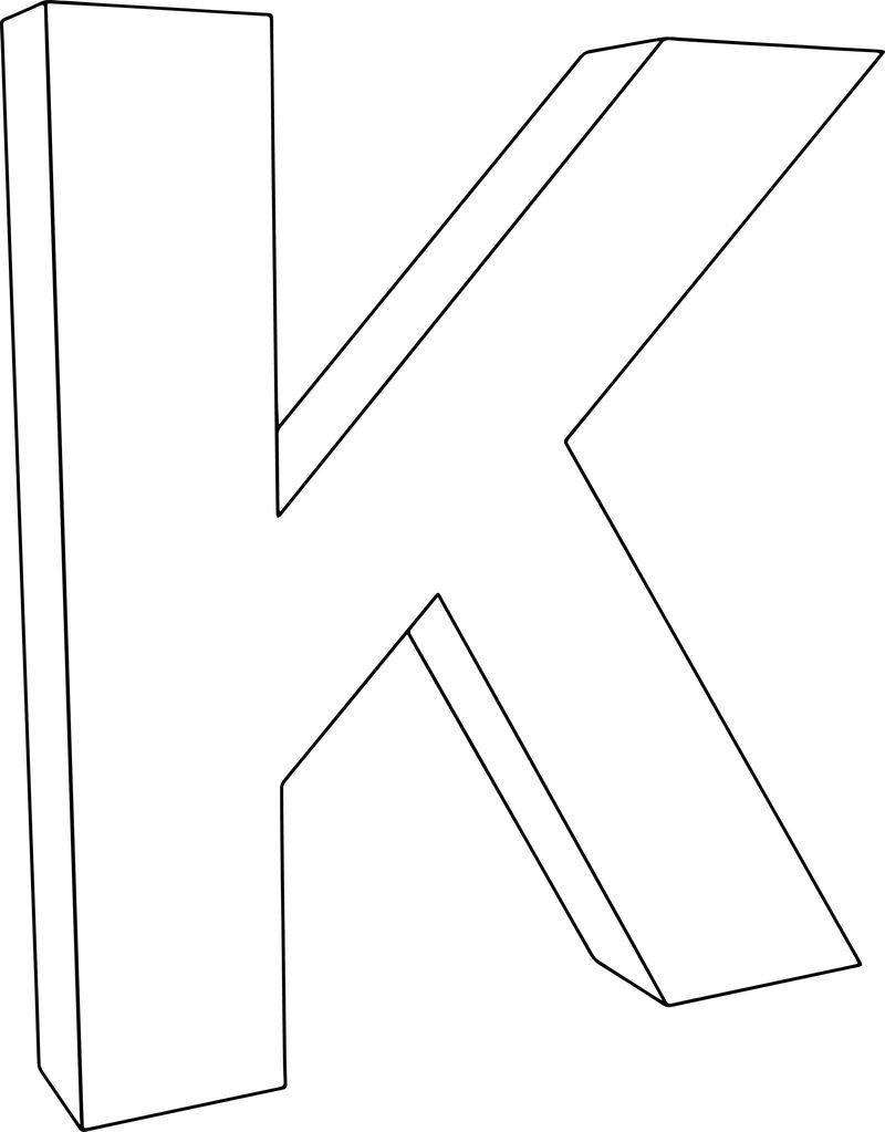 3d K Character Coloring Page Dengan Gambar