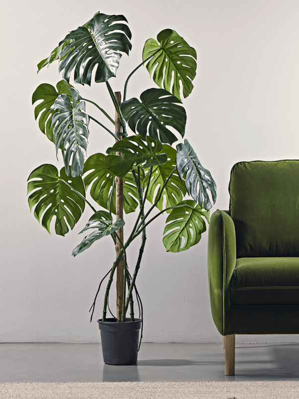 New Tall Faux Potted Monstera Faux Flowers Plants Decorative Home Accessories Luxury Homeware Faux Plants Decor Fake Plants Decor Bedroom Plants