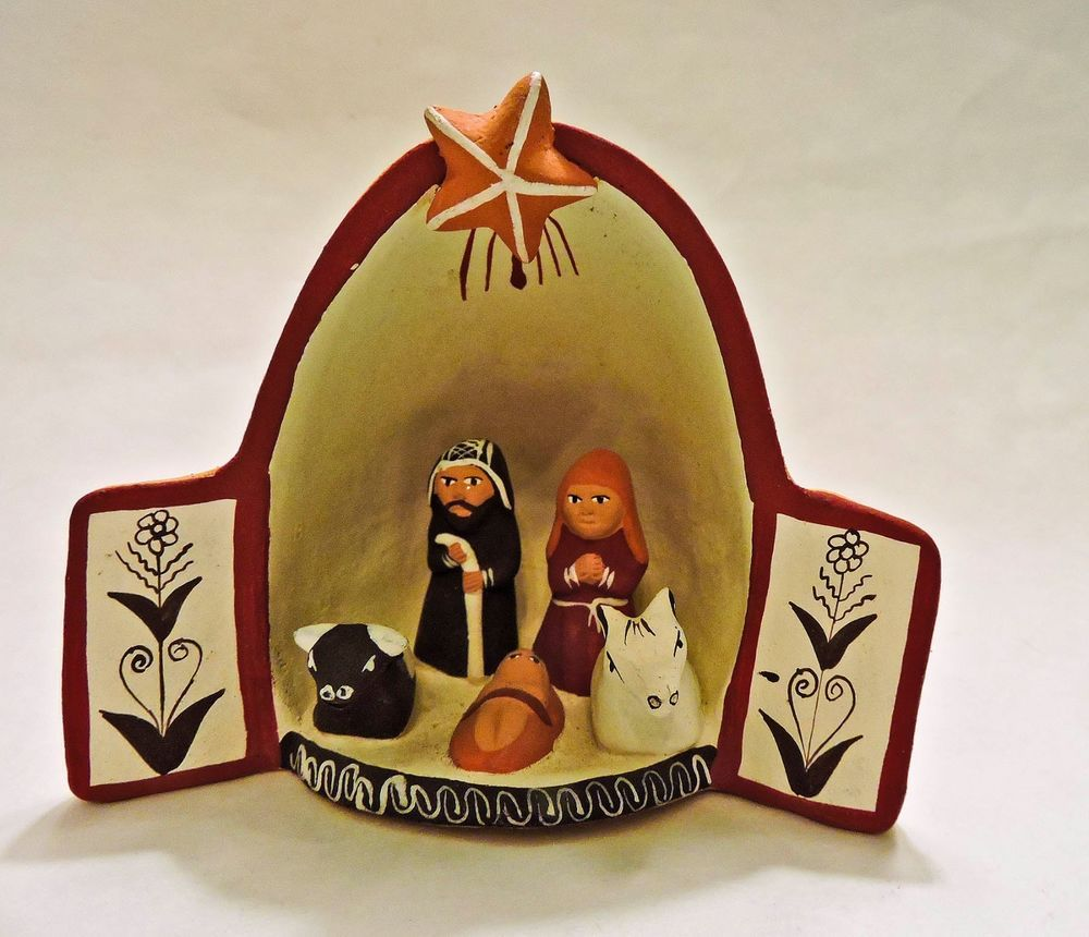 Miniature peru nativity scene folk art handmade pottery for Ceramica artesanal peru