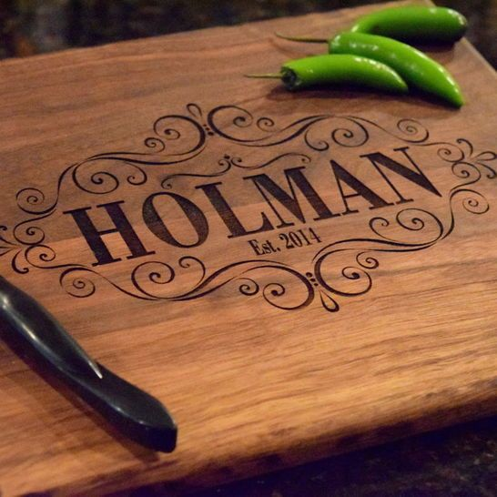 Laser Engraved Personalized Cutting Board - Personalized Gift - Cutting Board Gift