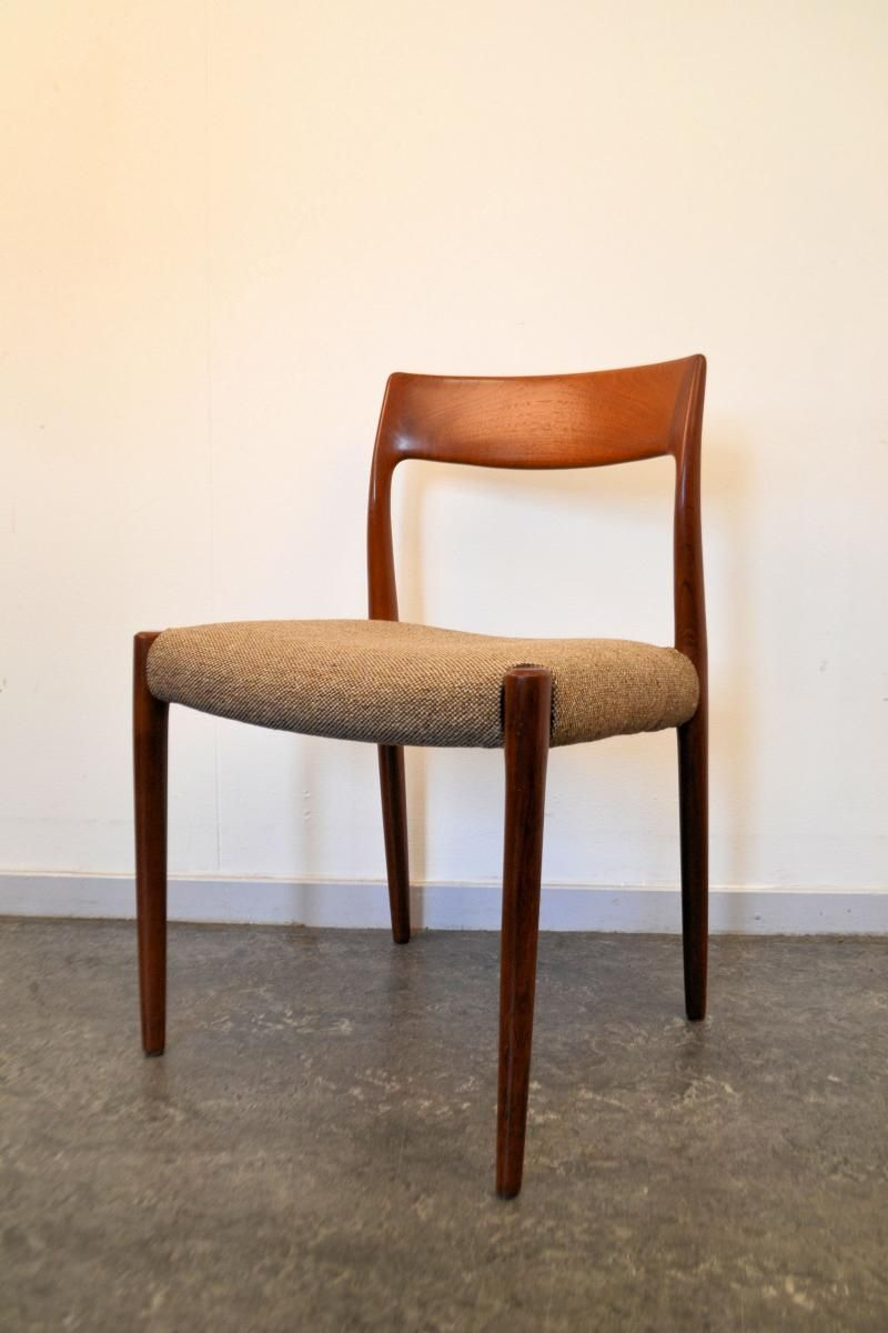 Nr. 77 Teak Dining Chairs By Niels O. Møller For J.L. Møller, 1960s, Set Of  5 4