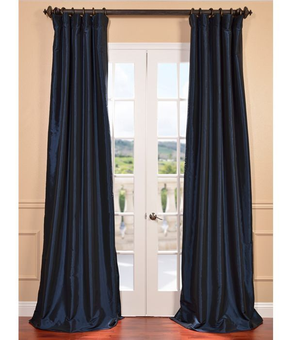 Navy Blue Blackout Faux Silk Taffeta Curtain Ptch Bo194010 108 Silktaffetacurtain