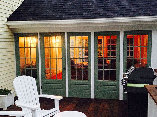 Screen Doors Used To Make A Porch In 2019 House With