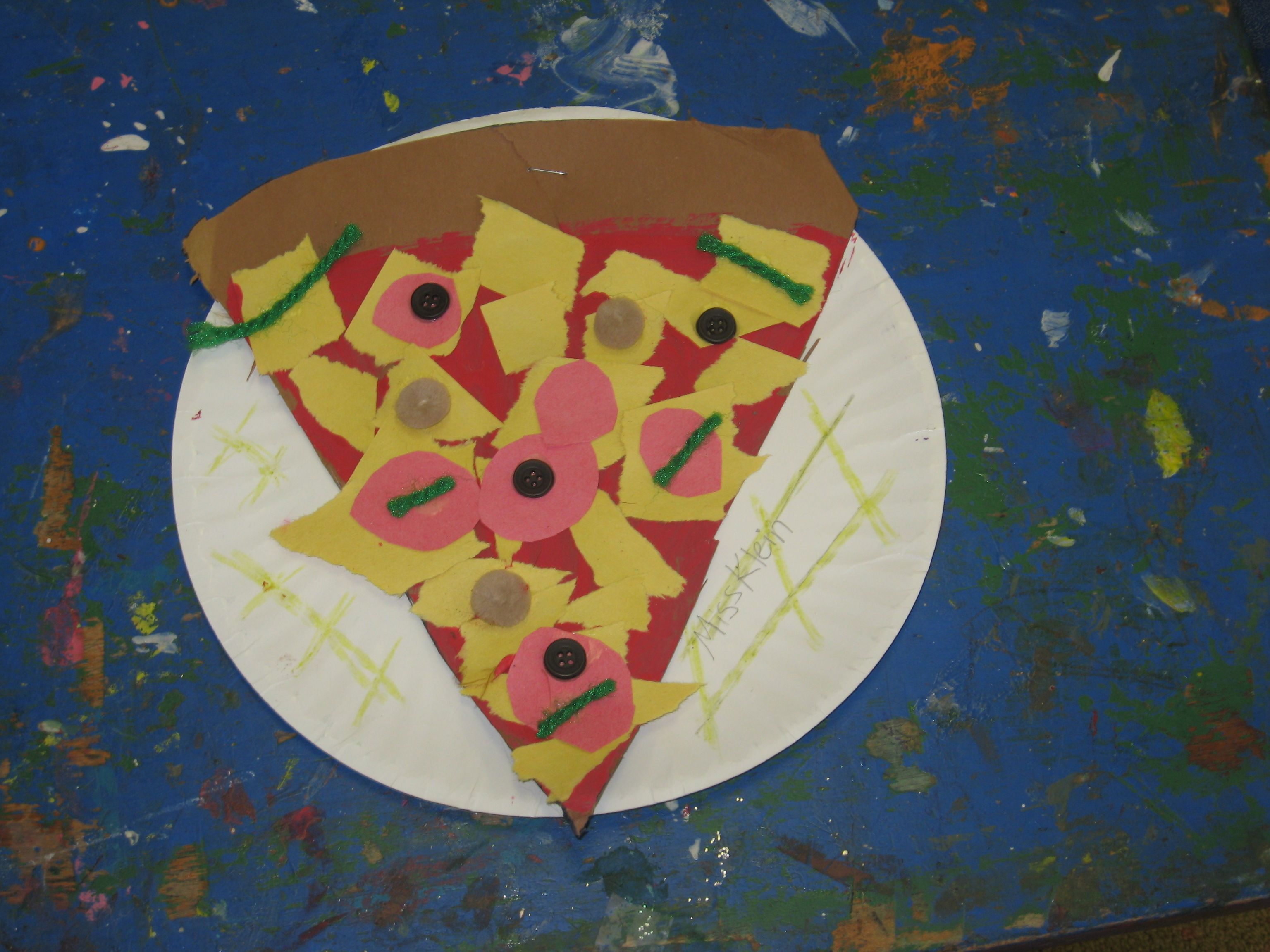 pizza craft on paper plate & pizza craft on paper plate | arts and crafts | Pinterest | Pizza ...
