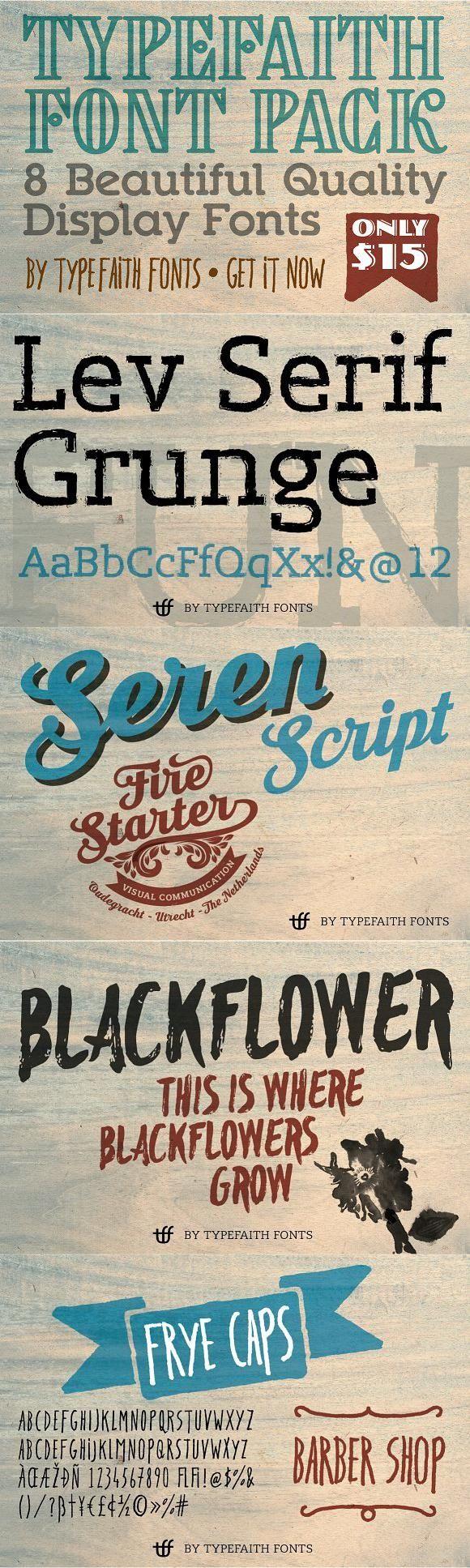 Download TypeFaith Creative Font Bundle | Creative fonts, Font ...