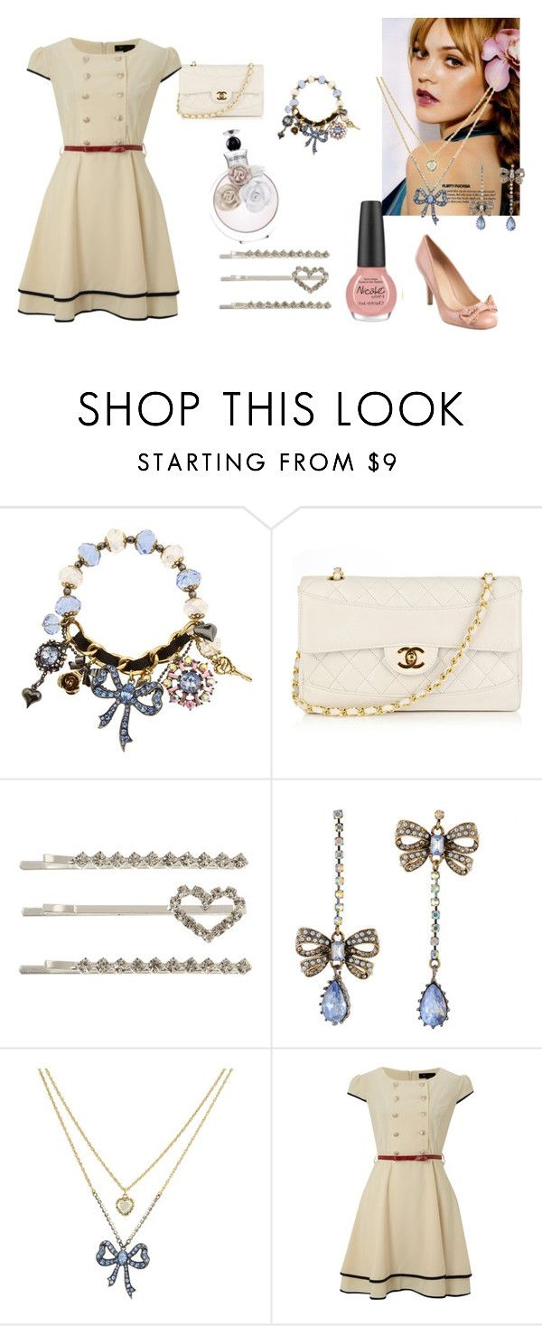 """""""Sem título #8"""" by lolita-kiss ❤ liked on Polyvore featuring OPI, Betsey Johnson, Chanel, Jane Norman, Cutie, Valentino and Nine West"""