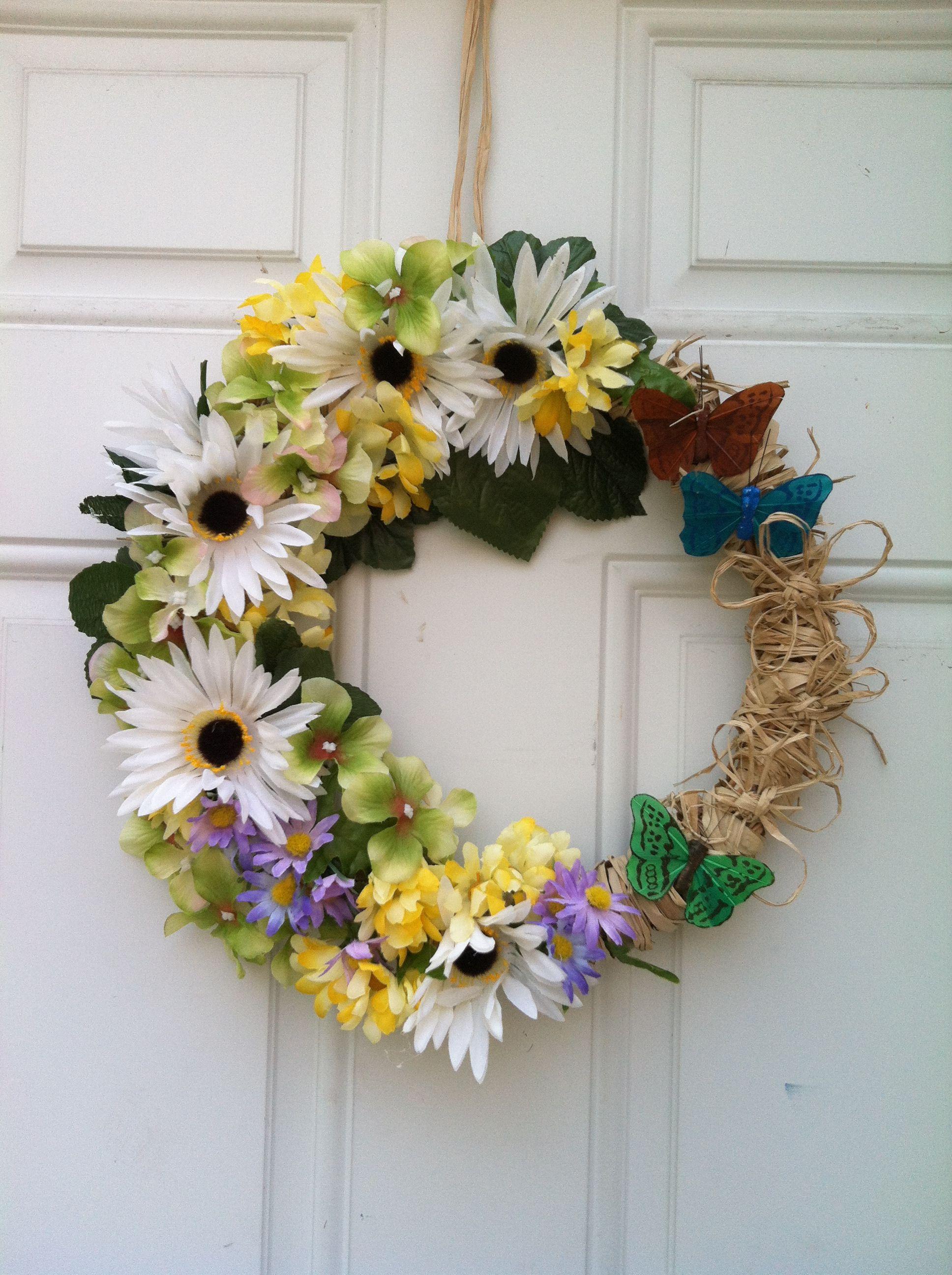 Spring wreath! DIY Materials all from dollar tree