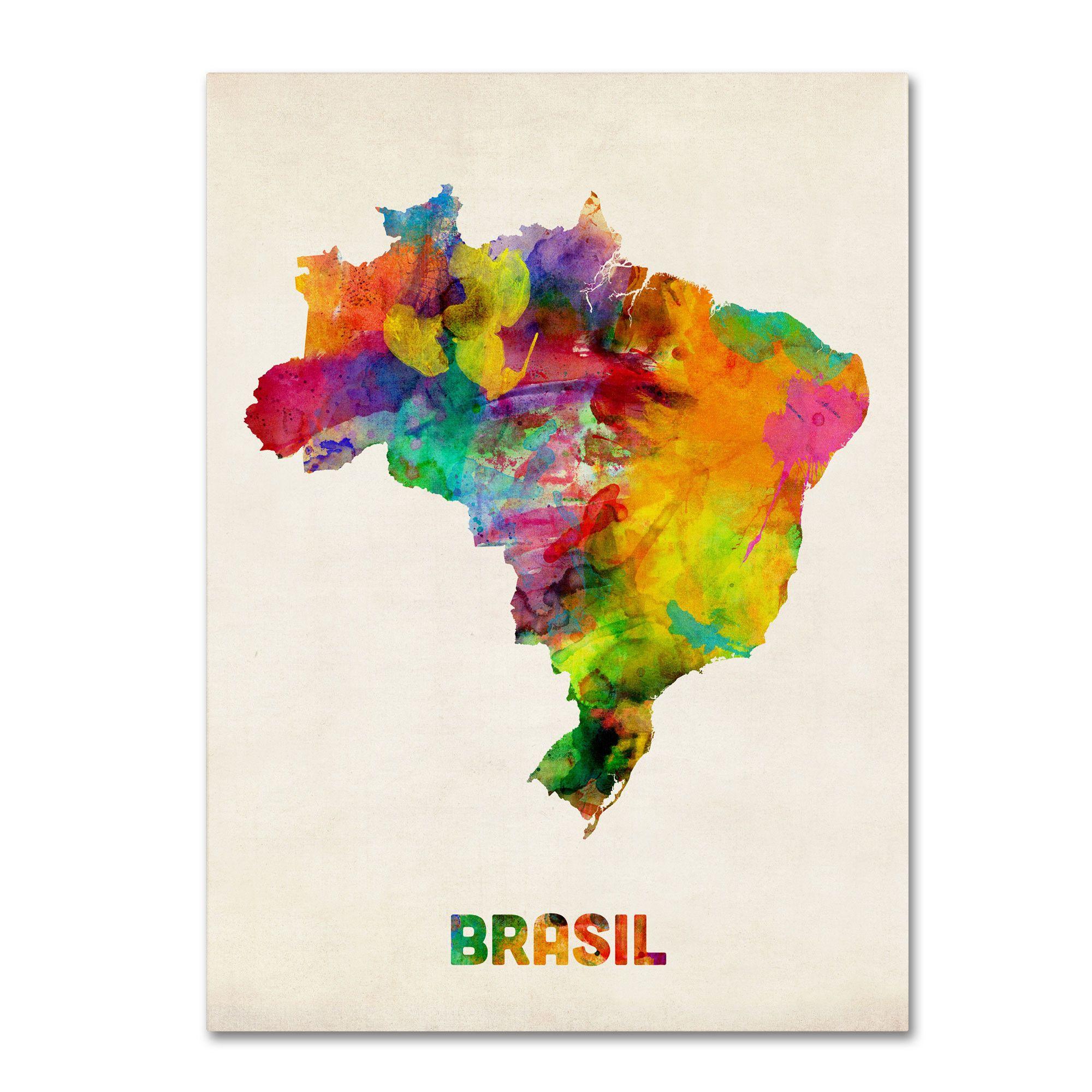 Brasil Watercolor Buscar Con Google Mapa Aquarela Mapa Brasil