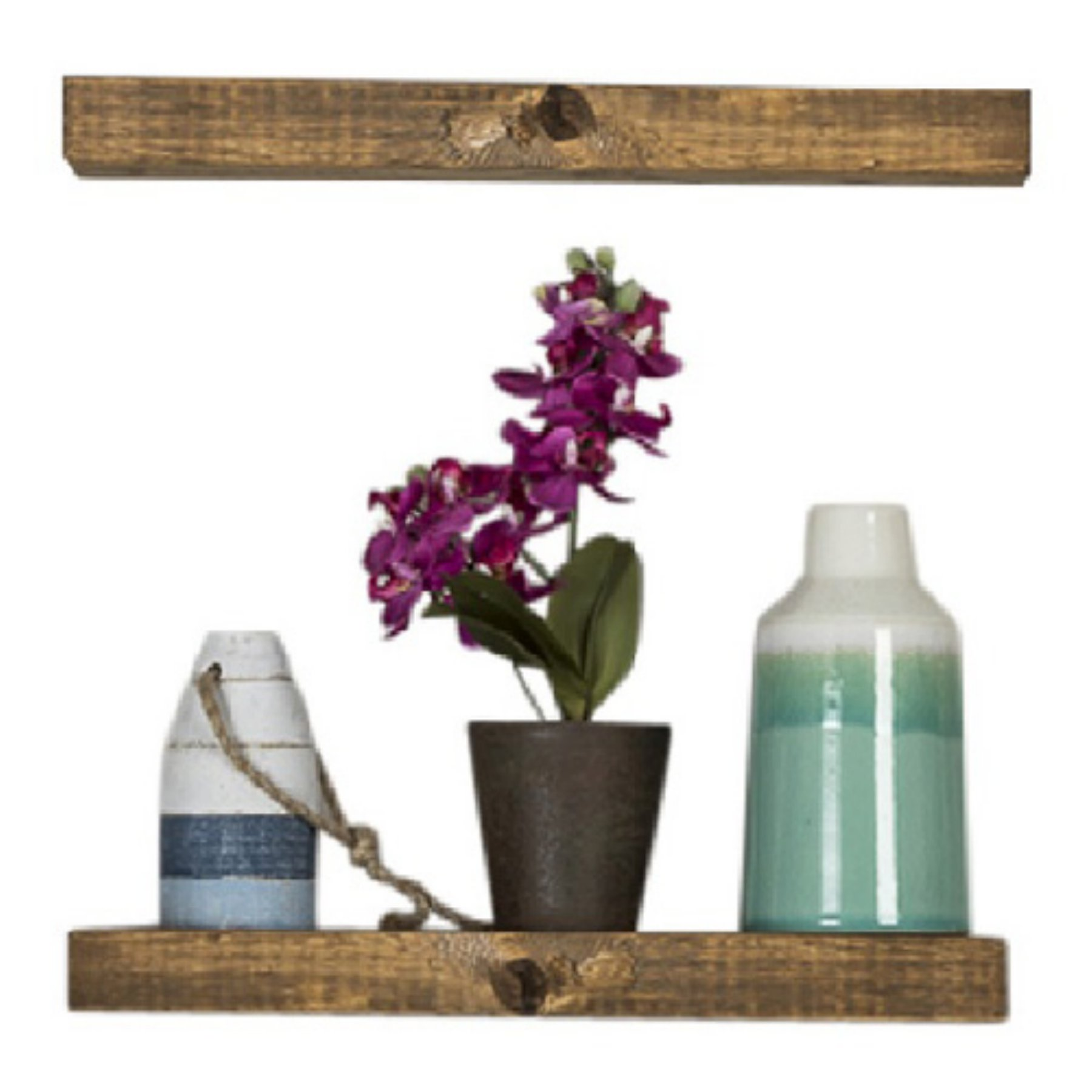 Del Hutson Rustic Floating Shelves  Set Of 2