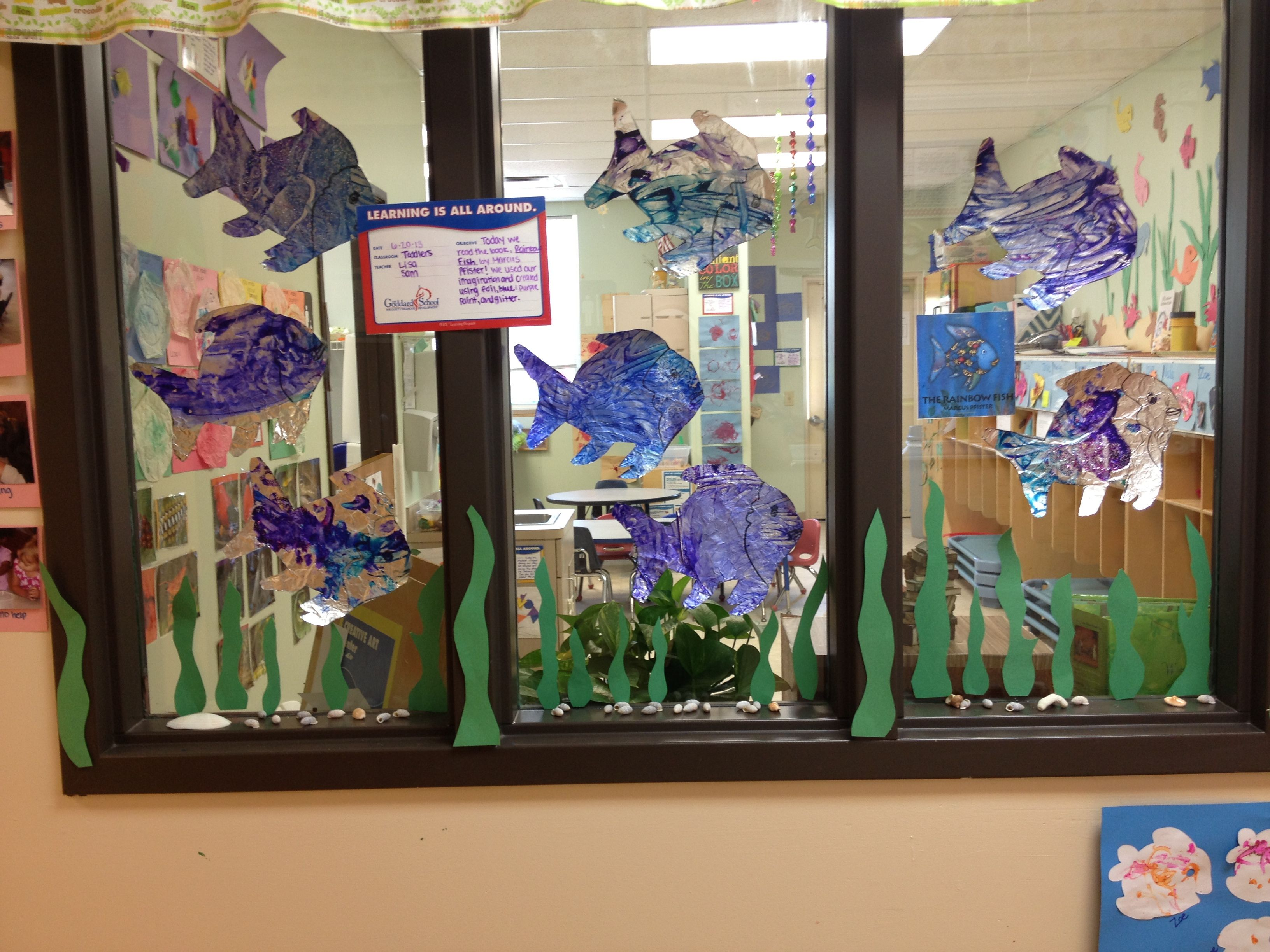 Classroom Decoration Window : I decorated my classroom window for our ocean theme had