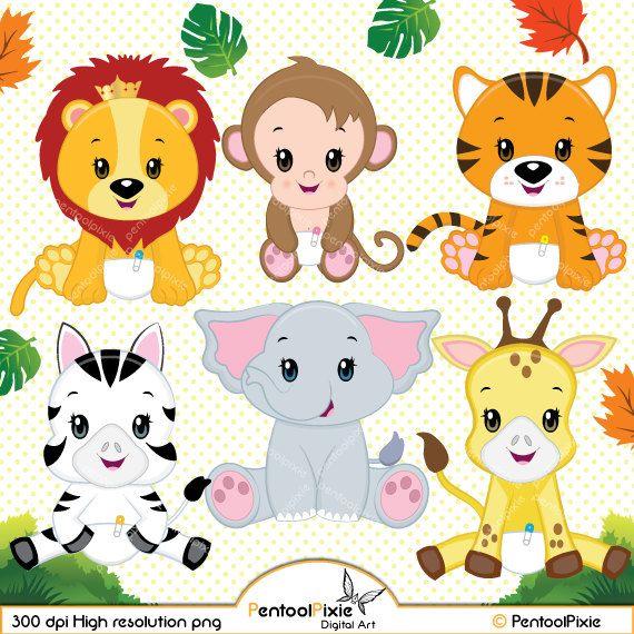 45+ Cute Cartoon Jungle Animals Clipart