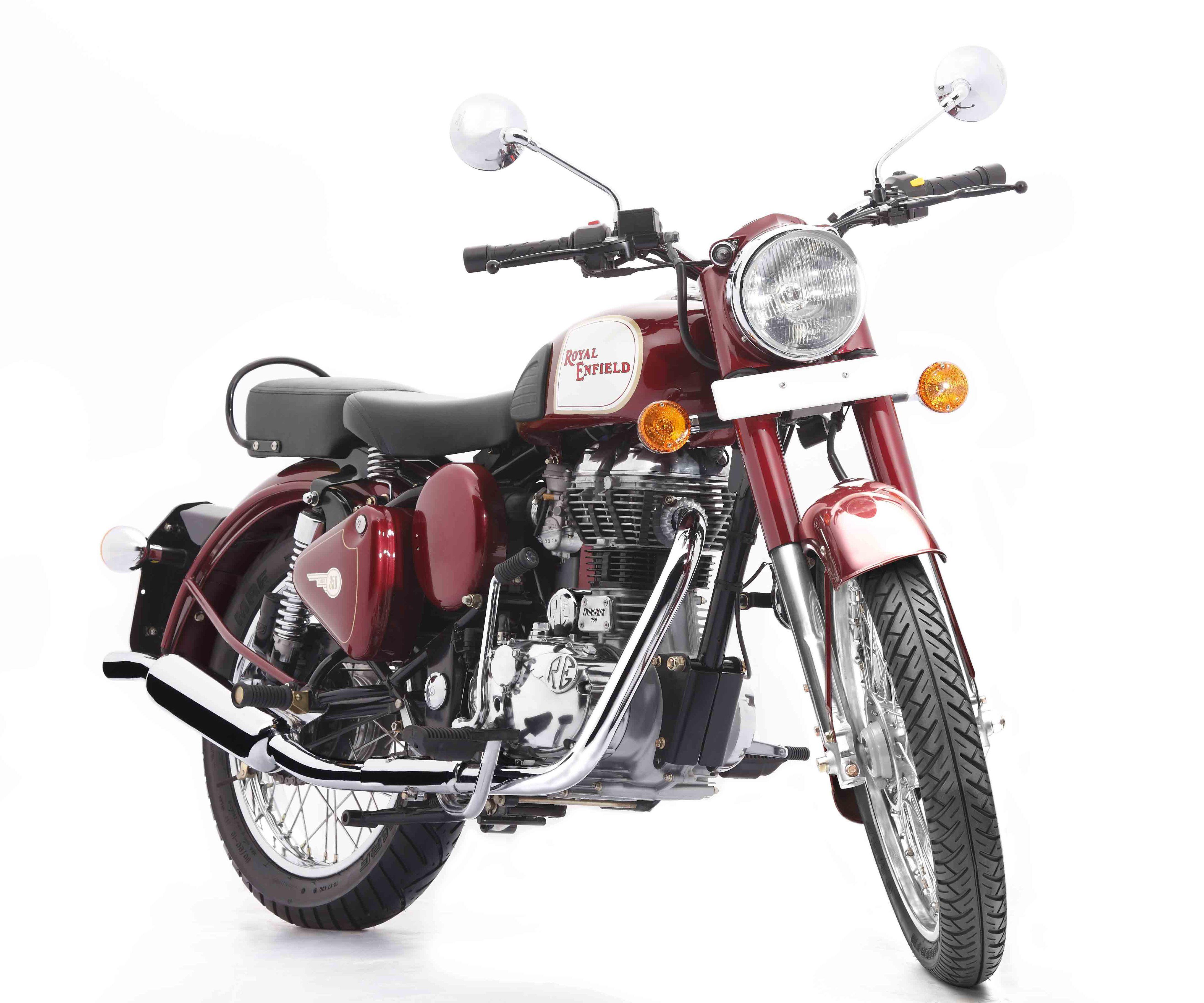 Vinotinto. 350 y 500cc. Motor monocilíndrico, refrigerado