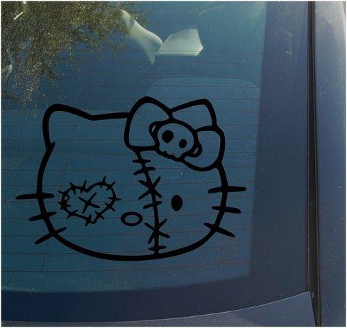 Hello Kitty Voodoo Doll Vinyl Decal Sticker Cute Girly