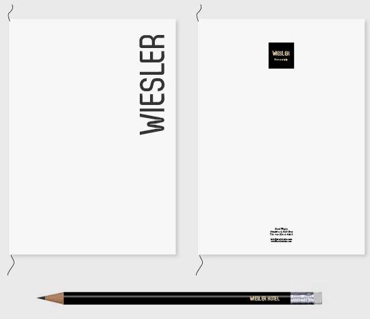 Hotel Wiesler - branding by moodley brand identity , via Behance