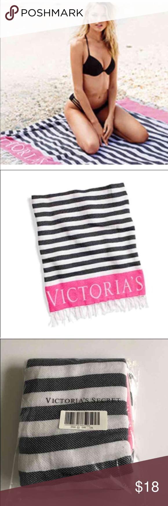 "Victoria's Secret beach blanket new Brand new in original bag measurements 50""X60"" PINK Victoria's Secret Accessories"