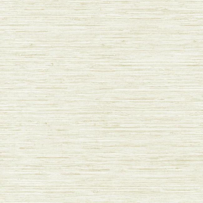 Horizontal Grasscloth Wallpaper in Off White and Gold